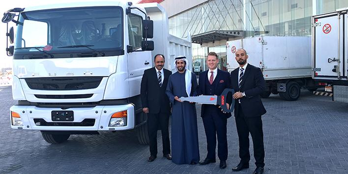 ZAYANI MOTORS DELIVERS THE FIRST FUSO FJ 2528 TIPPER TRUCK IN BAHRAIN