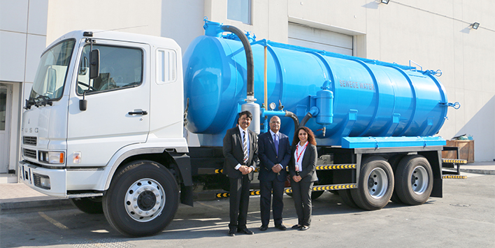 ZAYANI MOTORS DELIVERS SEWAGE TANKER