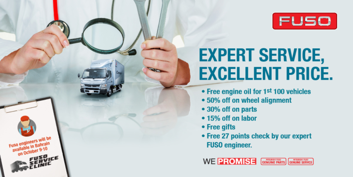 Stunning FUSO Service Offer with Zayani Motors