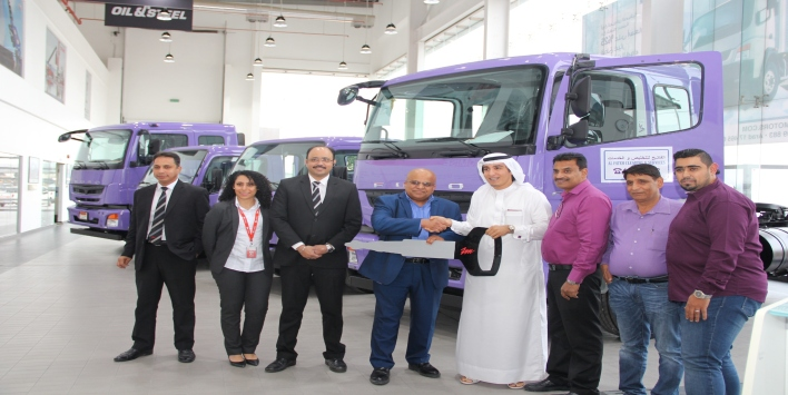 ZAYANI MOTORS DELIVERS FOUR FUSO TRUCKS