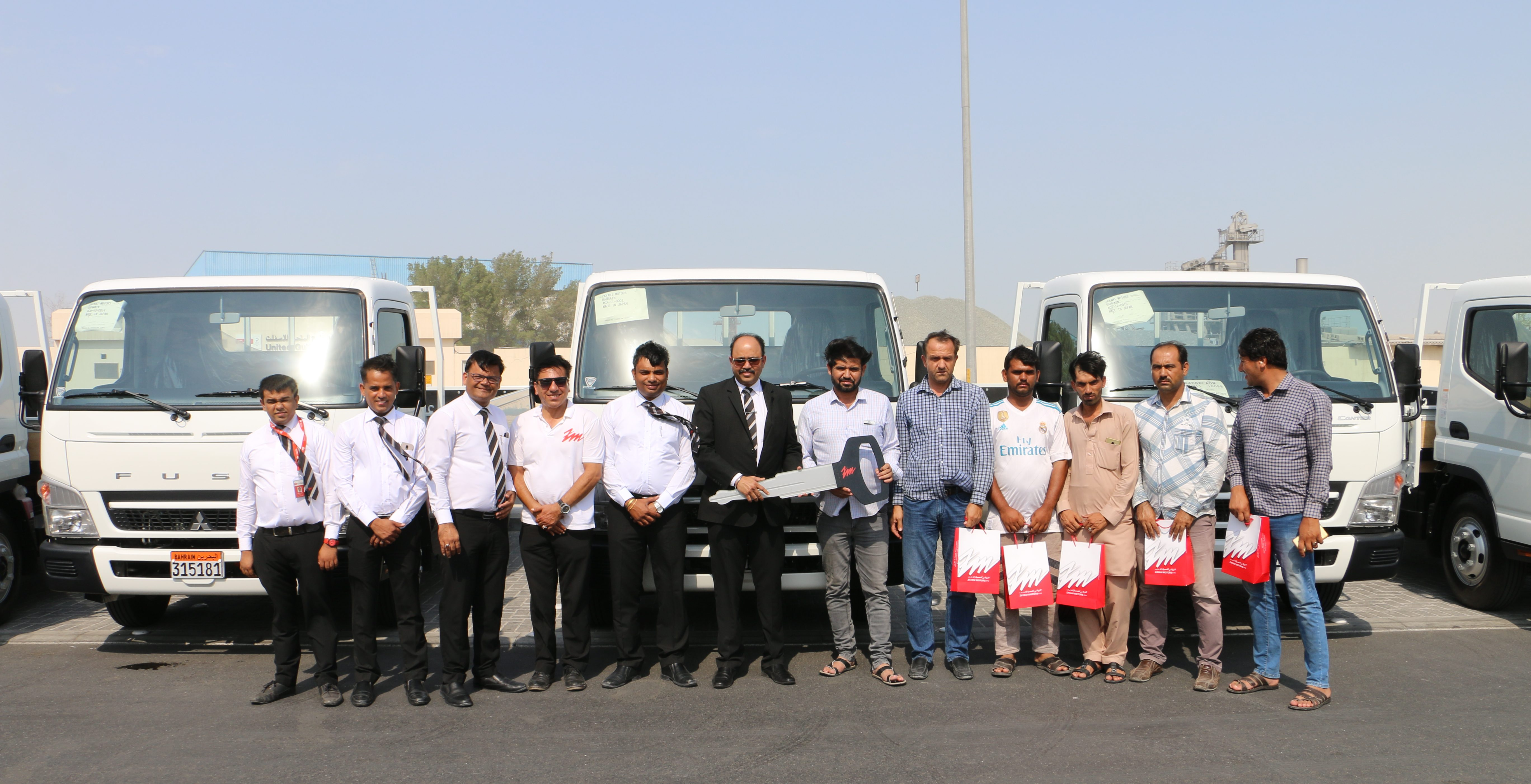Zayani Motors Delivers 5 Canter Trucks to Abdulla H. Al Derazi and Sons