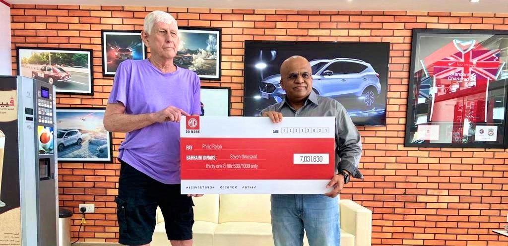 Philip Relph Wins Cashback from MG Motor